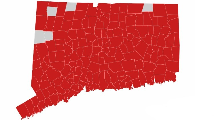 Here is Connecticut's COVID-19 'Red Alert' map and what it means