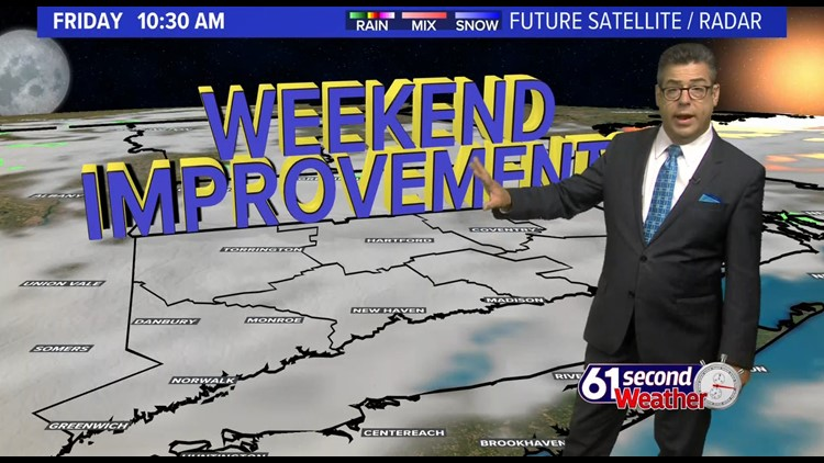 Mostly cloudy Friday, brighter for the weekend