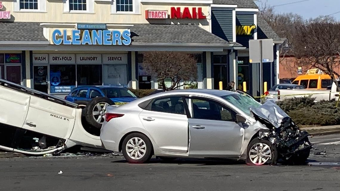 Crash, shooting investigation closes Tunxis Hill Road and Villa Avenue intersection in Fairfield