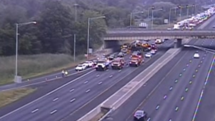 Police investigate shooting on I-84 in Cheshire