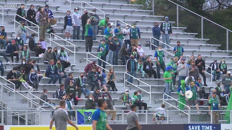 The Hartford Athletic welcome back fans in the stands