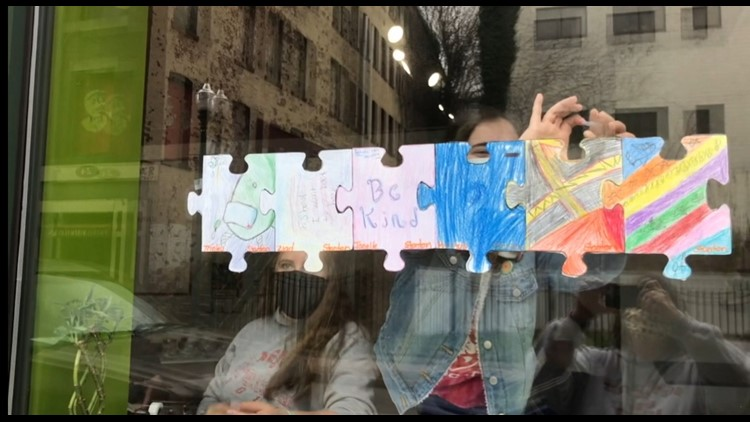 FOX61 Student News: Community Coming Together Through Puzzle Pieces