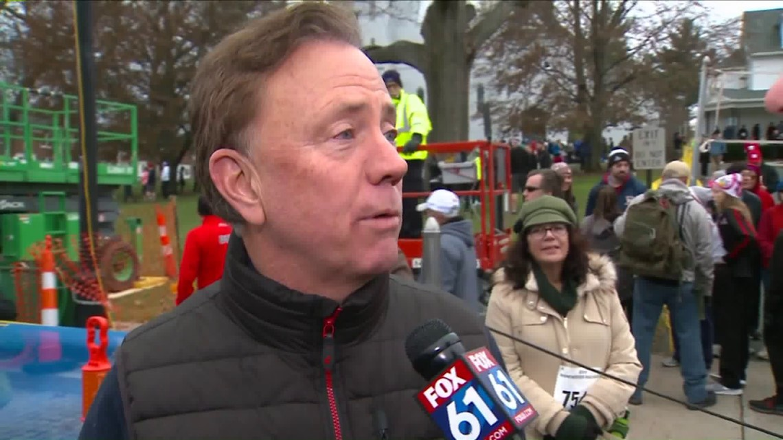 Gov. Ned Lamont at Manchester Road Race