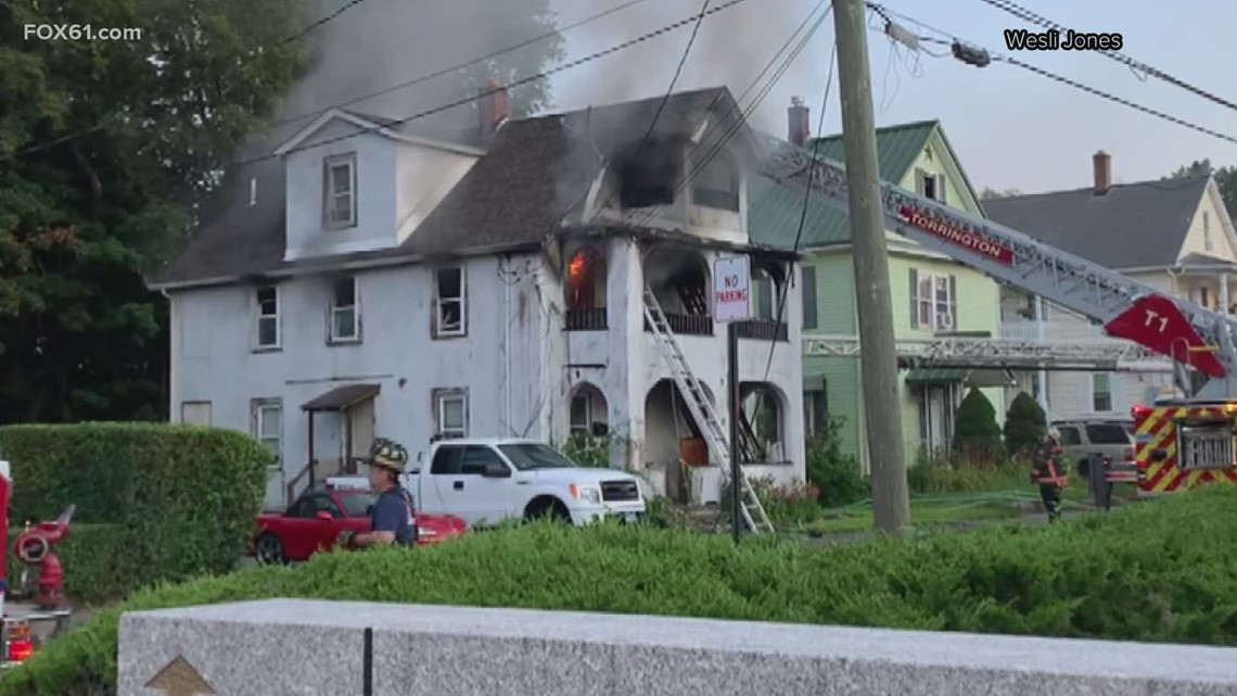 Torrington residents escape house fire after good Samaritan stopped to alert them of flames