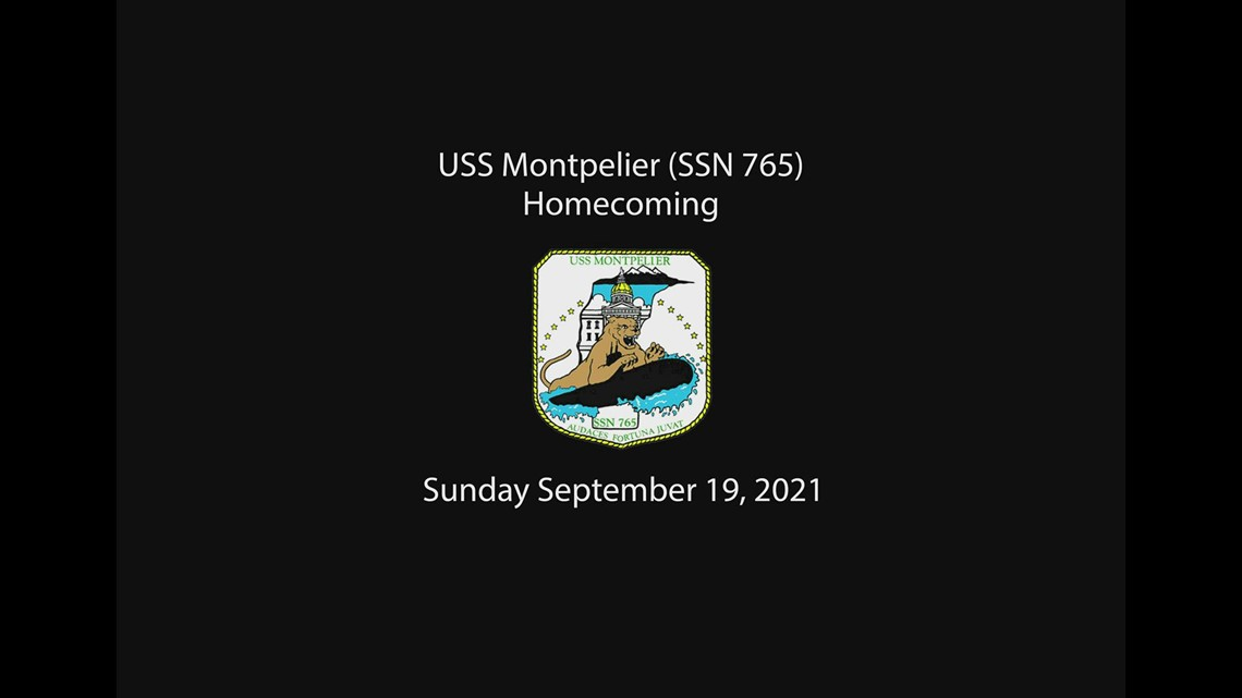 Submarine USS Montpelier homecoming in Groton
