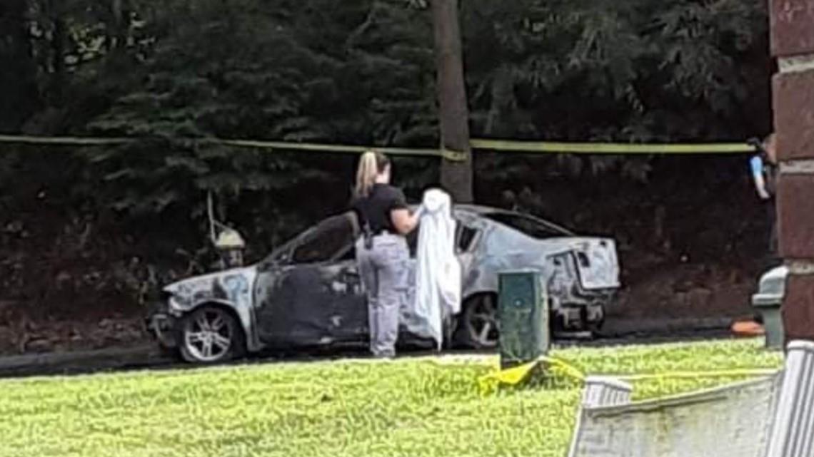 Body found in burning car in Waterbury, police investigating