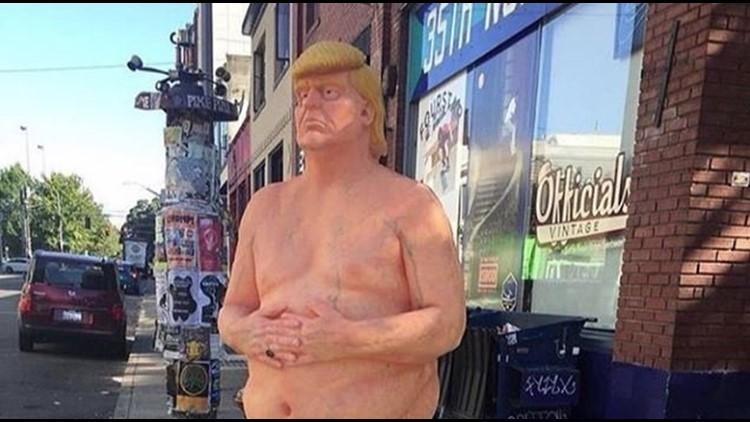 donald trump statue union square|donald trump statue nyc