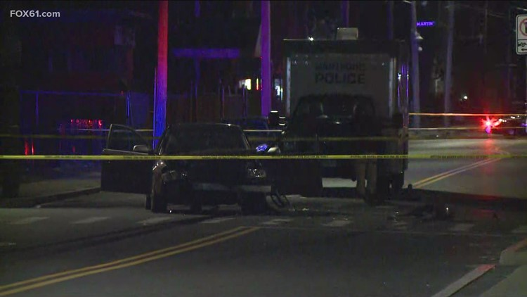 1 dead, 1 in critical condition after Hartford crash