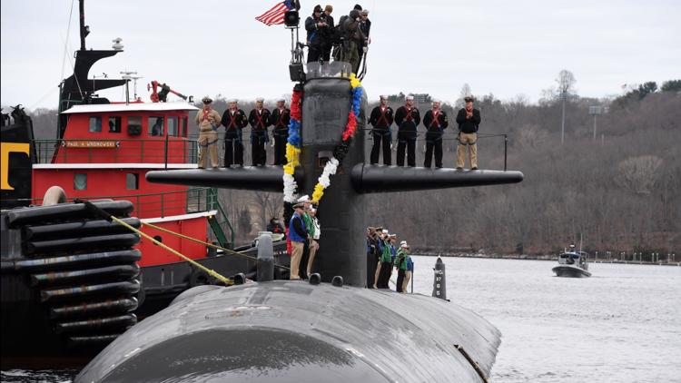 USS Providence returns to port in New London