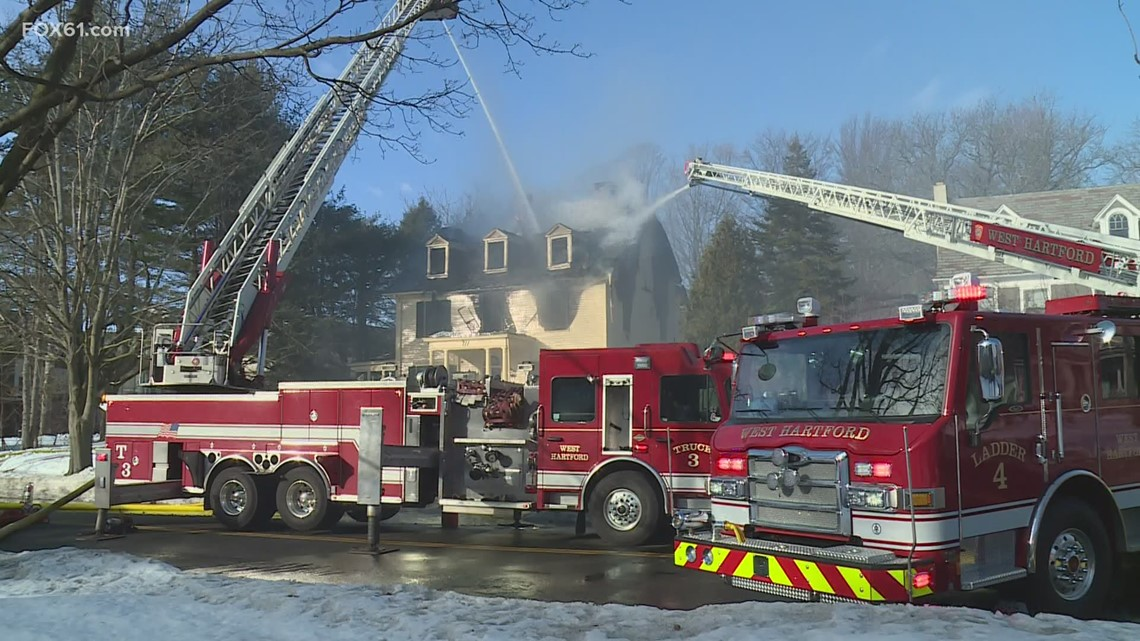 West Hartford home goes up in flames