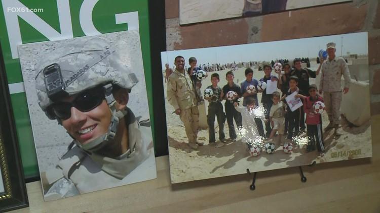 New Haven veteran groups raise money to send soccer balls to kids overseas