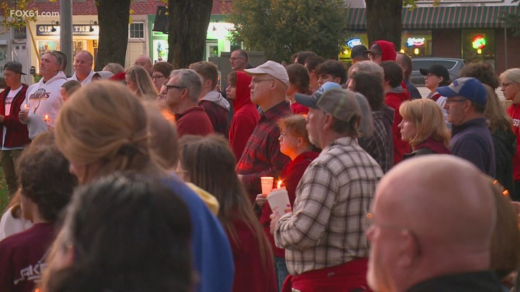 Colchester community gathers for vigil remembering teens killed in crash