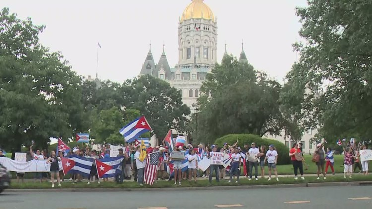 Cuban Americans protest at state Capitol