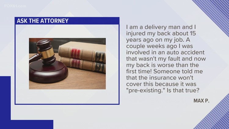Ask the Attorney: Reinjuring his back