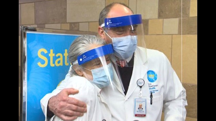 Married YNHH doctors' Valentine's Day date: giving COVID-19 vaccines