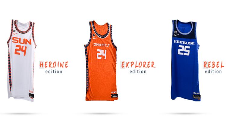 Connecticut Sun, WNBA unveil newly designed Nike uniform collection