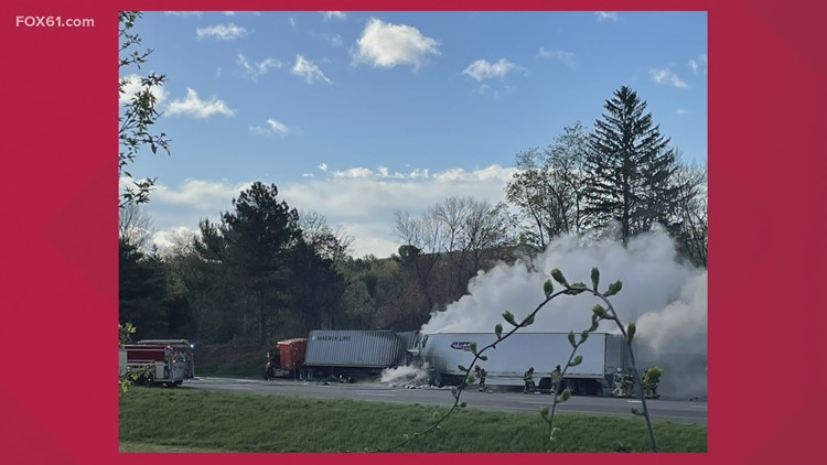 I-84 East closed in Vernon due to tractor trailer accident