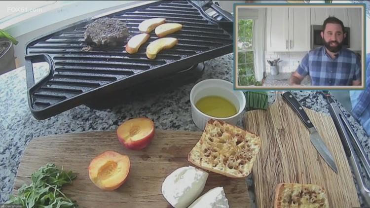 Meal House: Grilled Peach Burrata Burgers