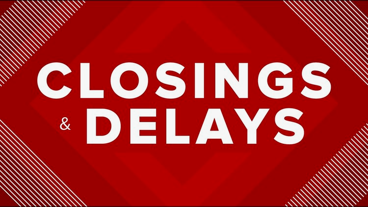 Storm related closings/delays
