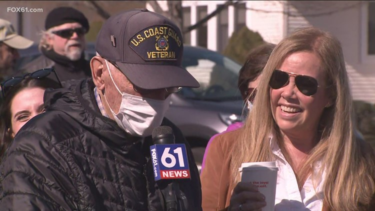 Hundreds roll up to celebrate loved Wethersfield police sergeant's 90th birthday