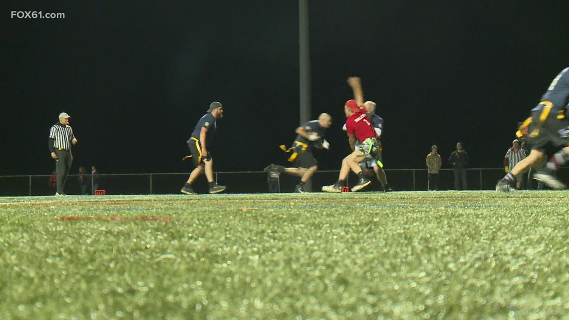 Flag football game benefits injured Farmington police officer
