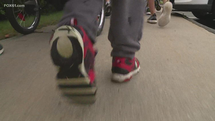 National Walk to School Day in Ellington