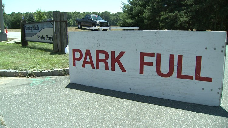 Some state parks close after reaching full capacity