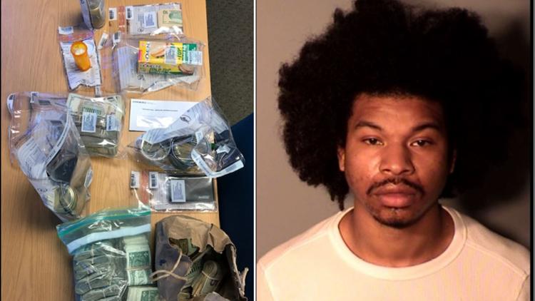 New London police seize drugs, cash; arrest city man