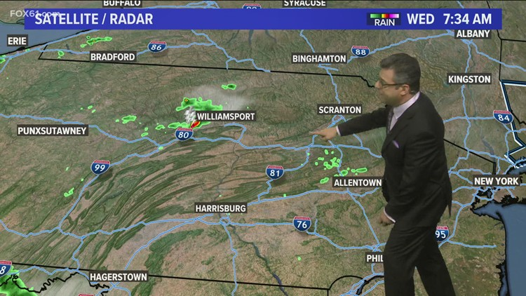 Chance for severe storms Wednesday afternoon