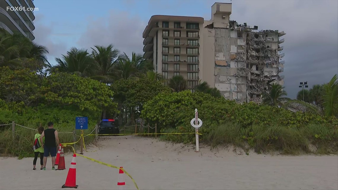 Rescue efforts underway after high-rise building partially collapses near Miami Beach