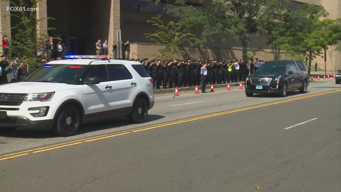 New Haven officer killed in crash honored as his body is returned to state