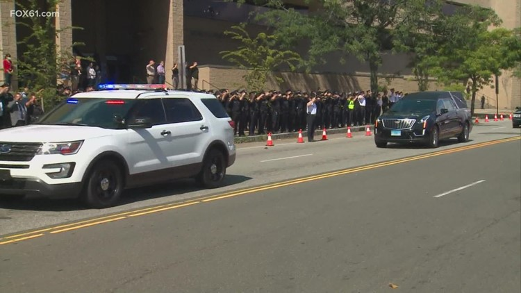 Body of New Haven officer returned home