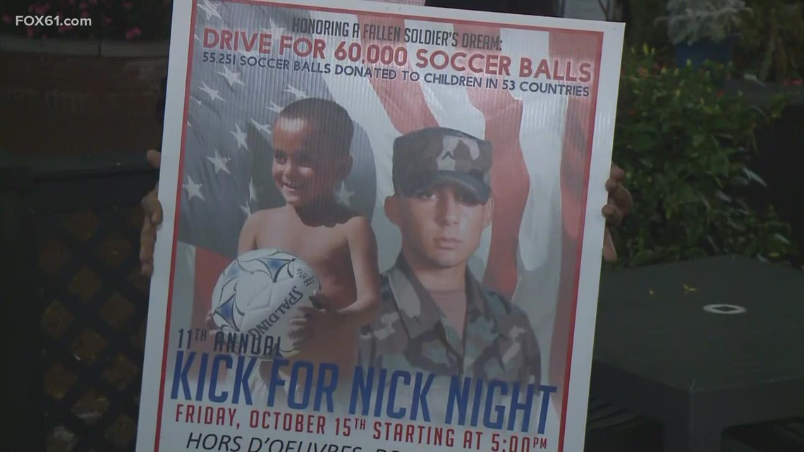 New Haven community continues fallen soldier's mission to send soccer balls to kids around the world