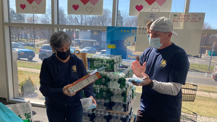 Build back and pay it forward: Rebuilt Southington store holds food drive.