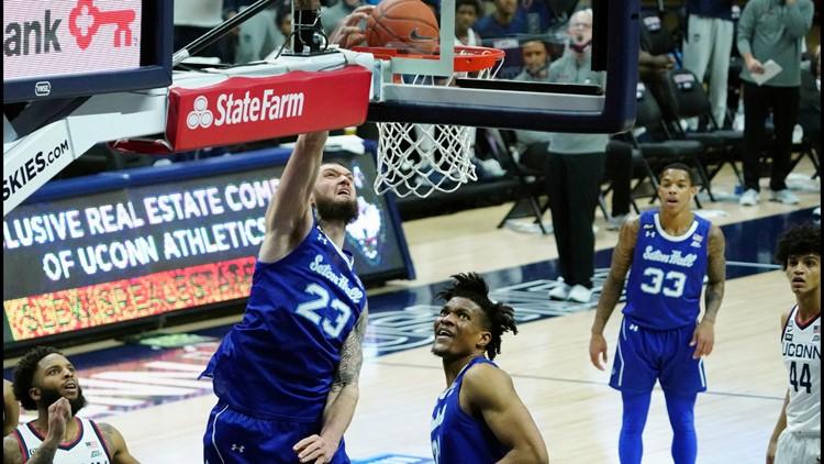Mamukelashvili carries Seton Hall over UConn 80-73