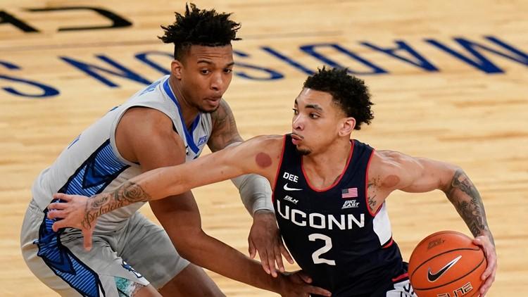 UConn men's basketball team returns to NCAA tournament after 5-year hiatus