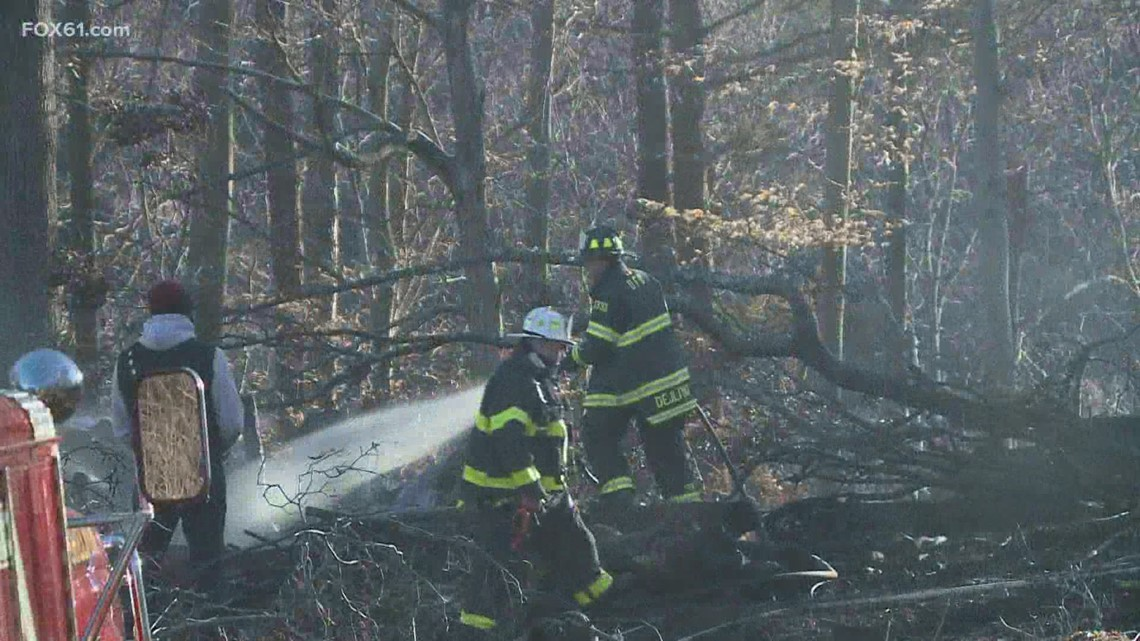 Multiple brush fires igniting across CT as the fire danger remained high Monday