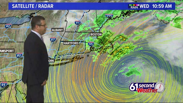 Staying windy today as a powerful nor'easter slowly moves out