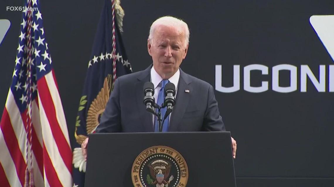 UConn students react to President Biden's visit