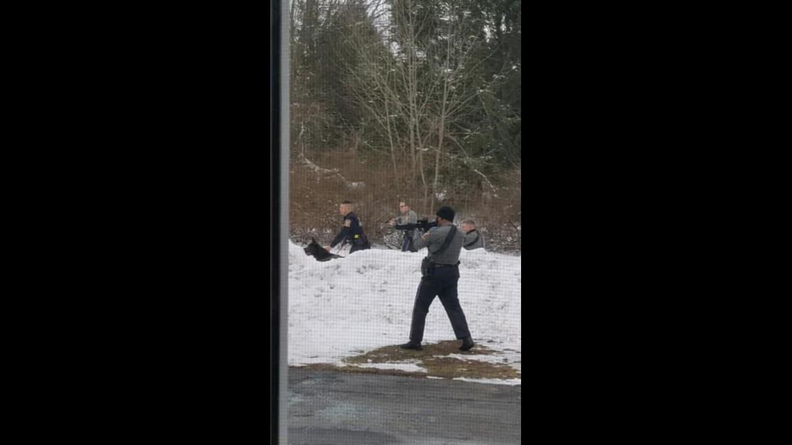 Police swarm Tolland neighborhood