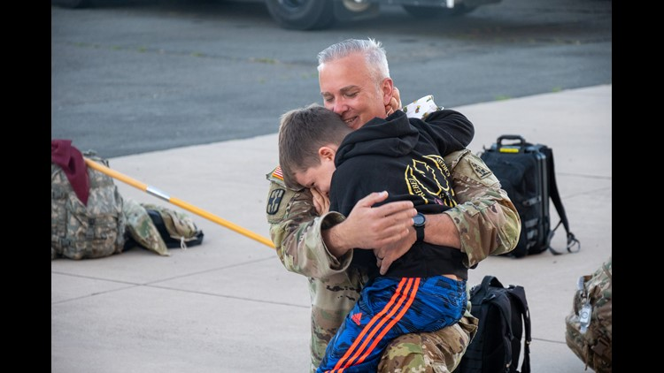 National Guard soldiers leave CT for Poland deployment