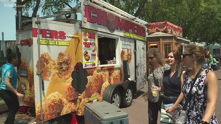 Sun shines down on the first day of the Riverfront Food Truck Festival