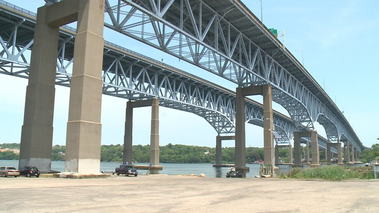 Off-duty firefighter assists injured person struck by a car on Gold Star Bridge