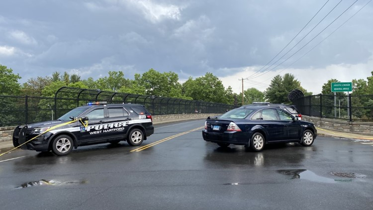 PD on scene: Mayflower St. Bridge is blocked off and I-84 east is backed up in West Hartford