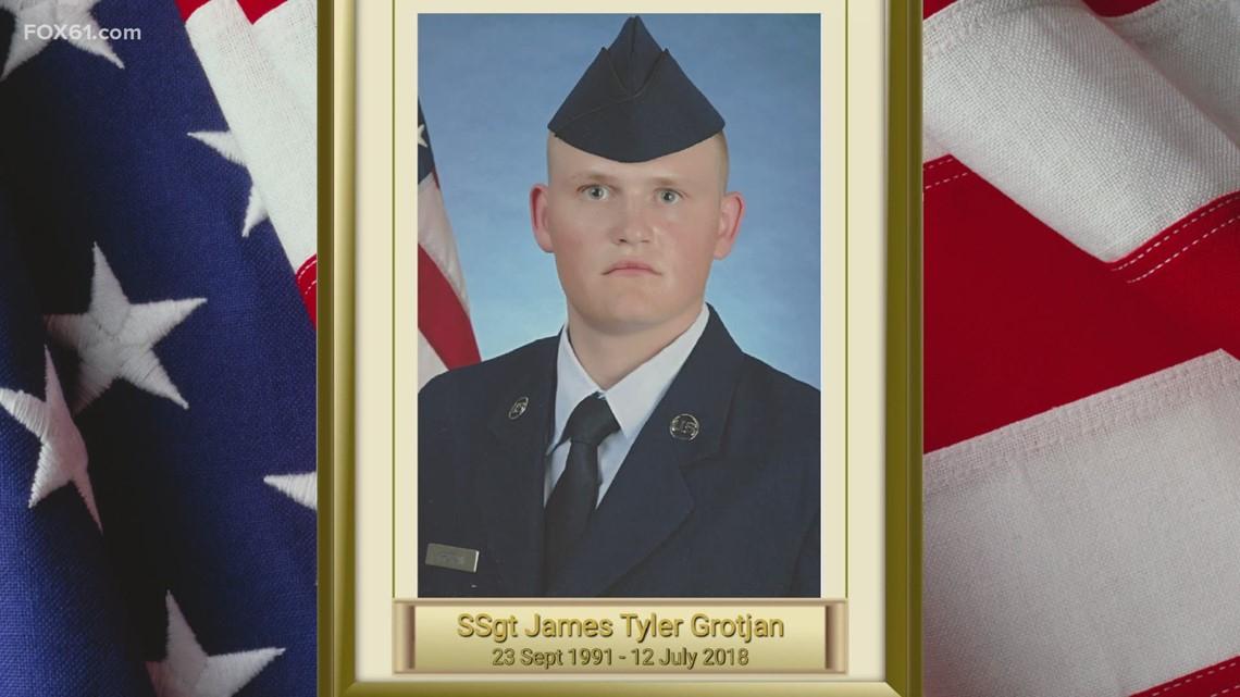 "Tribue to fallen Staff Sergeant James ""Tyler"" Grotjan of the U.S. Air Force"