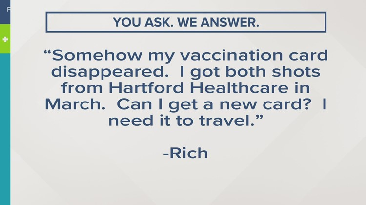 You ask. We answer | Can you get a new vaccine card?
