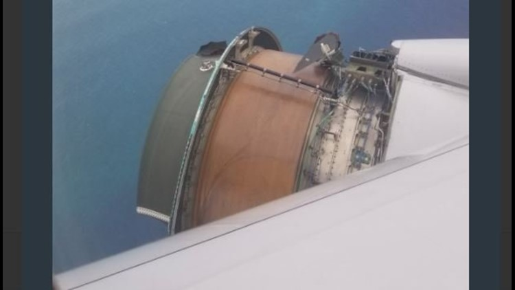 Their plane was thousands of feet over the Pacific when the engine cover blew