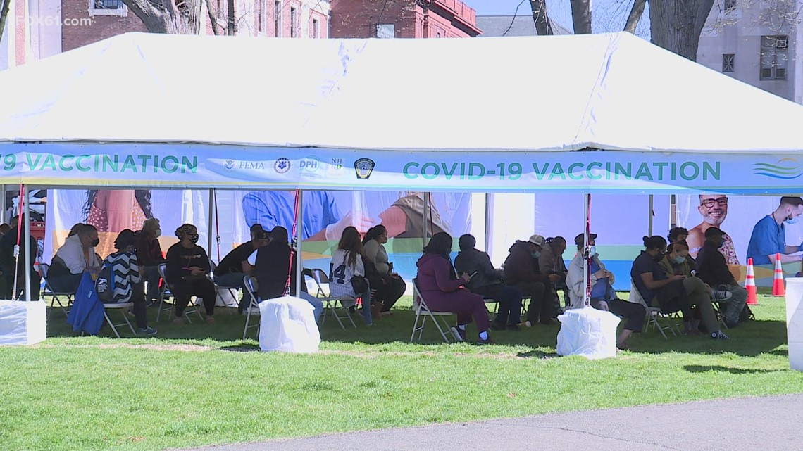 FEMA mobile vaccination unit at New Haven Green