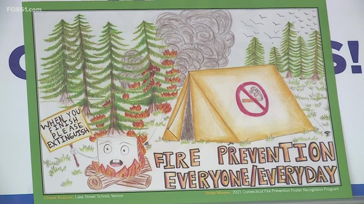 Vernon elementary school student wins state fire prevention poster contest