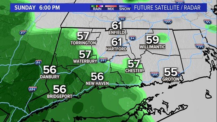 Brighter and warmer for Mother's Day, followed by soaking rain overnight.
